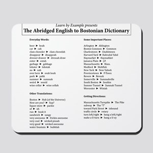 Boston-English Dictionary Mousepad