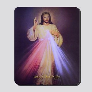 Divine Mercy Gold Mousepad