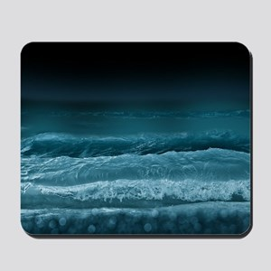 Night  Ocean Waves Mousepad