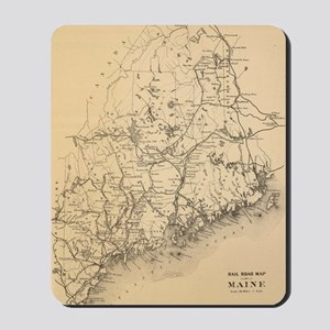 Vintage Map of Maine (1894) Mousepad