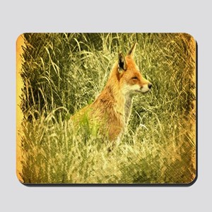 nature wildlife red fox Mousepad