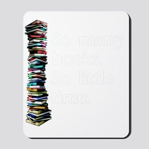 So Many Books Dark Background 2 Mousepad