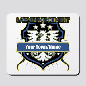 Law Enforcement Eagle Heraldry Mousepad