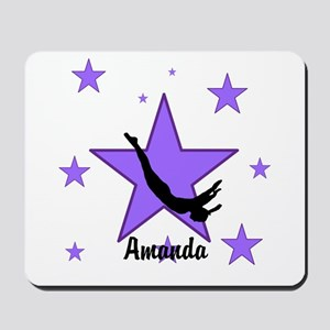 Purple Trampoline Star Mousepad