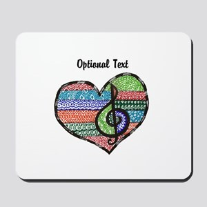 Personalized Music Doodle Hea Mousepad