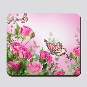 Butterfly Flowers Mousepad