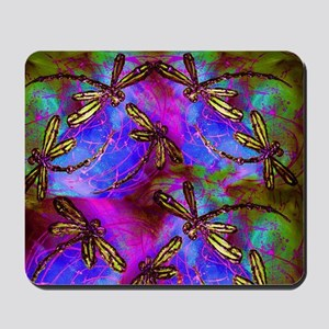 Dragonfly Hippy Flit Mousepad