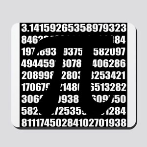 Pi number in black Mousepad