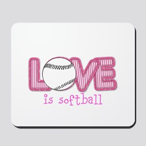 Love is Softball : Pink Mousepad