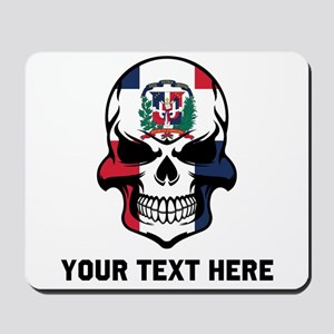 Dominican Flag Skull (Custom) Mousepad
