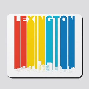 Retro Lexington Kentucky Skyline Mousepad