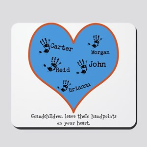 Grandchildren Leave Handprints - 5 children Mousep