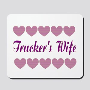 Truckers Wife With Hearts Mousepad