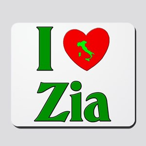 I (heart) Love Zia Mousepad