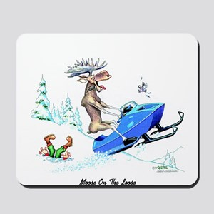 Moose on The Loose T Shirts Mousepad