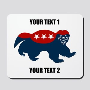 Patriotic Honey Badger Mousepad
