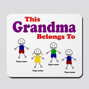 Personalized Grandma 4 kids Mousepad