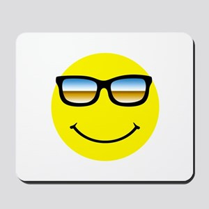 Smiley Face Glasses Mousepad