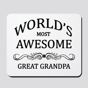 World's Most Awesome Great Grandpa Mousepad