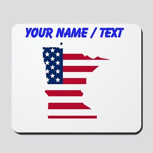 Custom Minnesota American Flag Mousepad