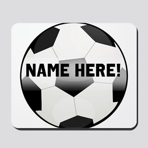Personalized Name Soccer Ball Mousepad