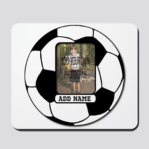 Photo and Name personalized soccer ball Mousepad