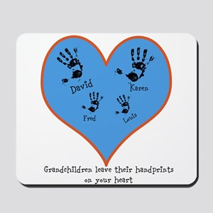 Personalized handprints 4 grandkids Mousepad