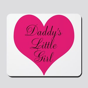 Daddys Little Girl Large Heart Mousepad