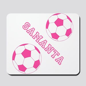 Soccer Girl Personalized Mousepad