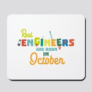 Engineers are born in October Cs52p Mousepad