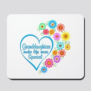 Granddaughter Special Heart Mousepad