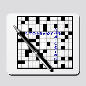 Crosswords addiction Mousepad