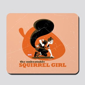 Squirrel Girl Orange Mousepad
