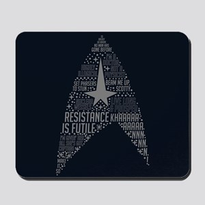 Star Trek Quotes Insignia Mousepad