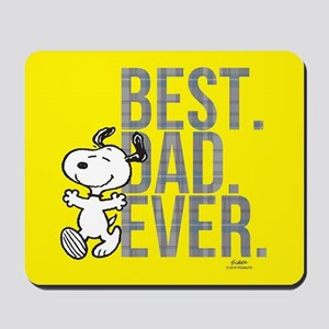 Snoopy - Best Dad Ever Full Bleed Mousepad