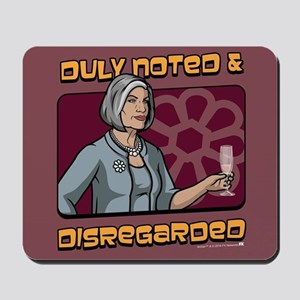 Archer Malory Duly Noted Mousepad