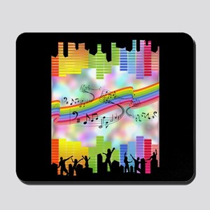 Colorful Musical Theme Mousepad