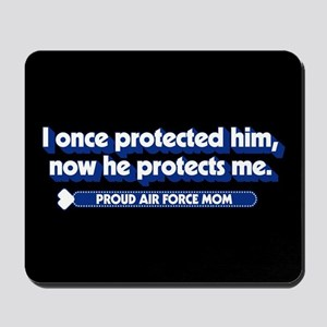 U.S. Air Force Now He Protects Me Mousepad