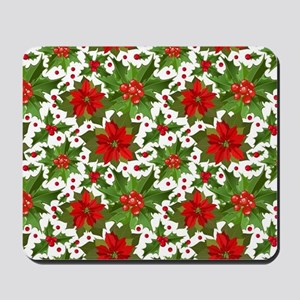 Poinsettia Pattern Mousepad