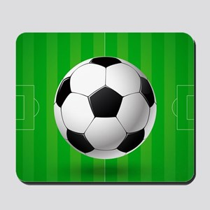 Football Ball And Field Mousepad