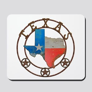 Texas Wrought Iron Barn Art Mousepad