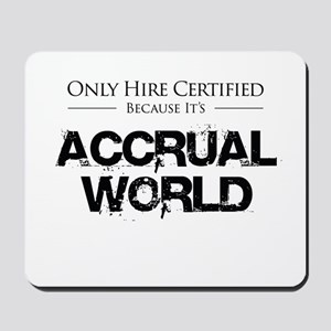 Accrual World Certified - Black Mousepad