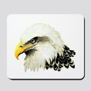 Watercolor Bald Eagle Bird Mousepad
