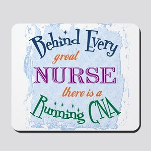 Behind Nurse, Running CNA Mousepad
