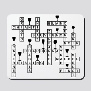 WINES SCRABBLE-STYLE Mousepad