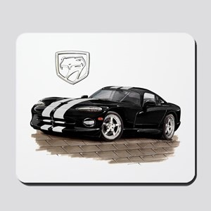 Viper Black/White Car Mousepad