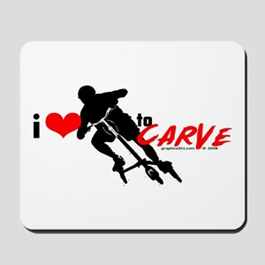 i (heart) to CARVE Mousepad