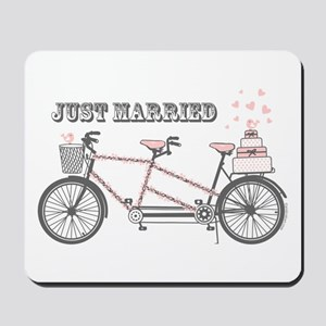Tandem Bicyle Wedding Mousepad