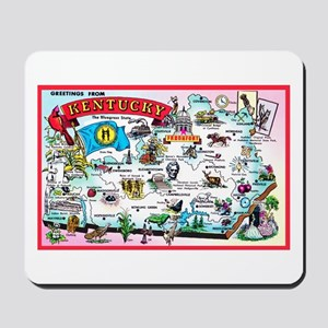 Kentucky Map Greetings Mousepad