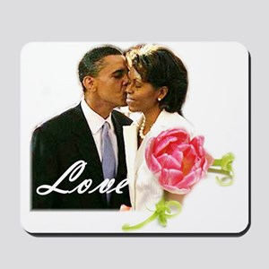 Barack & Michelle Love Mousepad